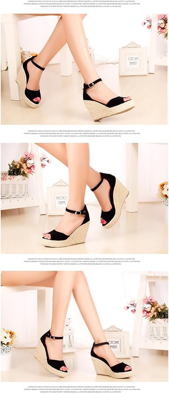 Vie Jeune Wedges Shoes Platform High Heels Sandals