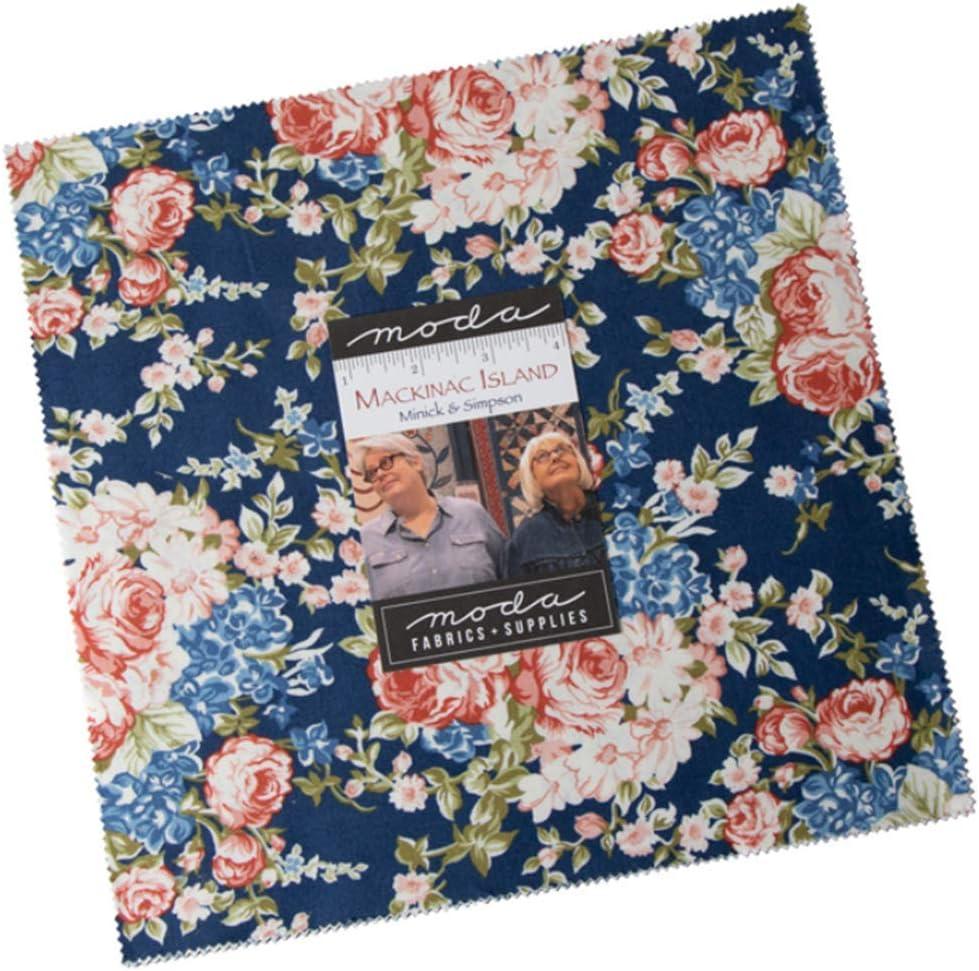 Mackinac Island Layer Cake 42-10 inch Precut Fabric Quilt Squares by Minick /& Simpson for Moda Fabrics