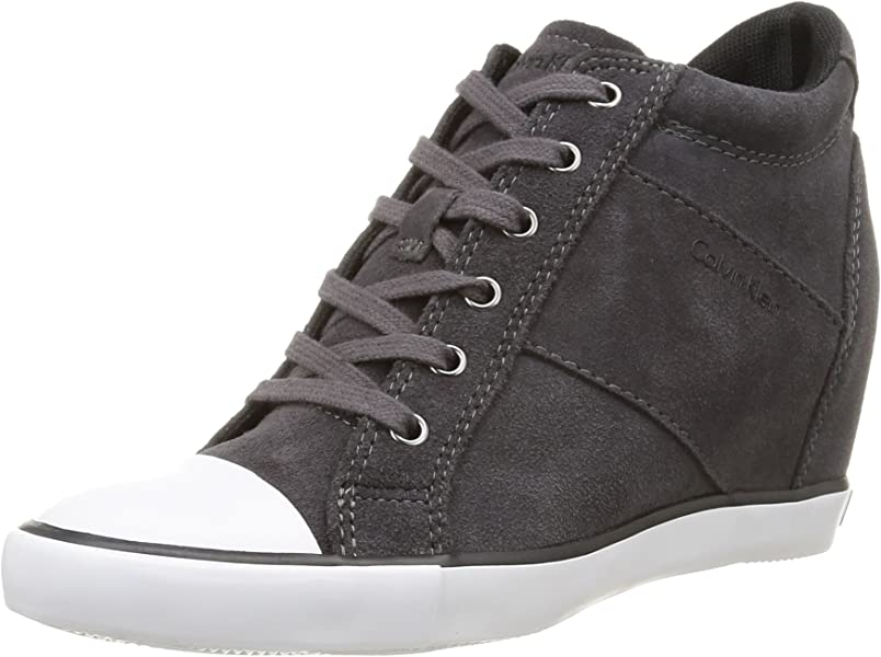 Calvin Klein Jeans Voss, Zapatillas Altas para Mujer, Gris-Grau (eby)
