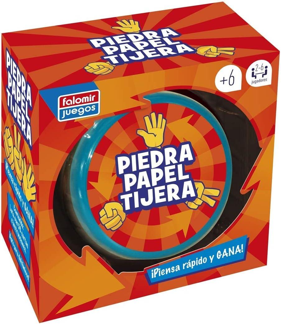Falomir Piedra, Papel o Tijera. Juego de Mesa. Cartas, Multicolor (1): Amazon.es: Juguetes y juegos