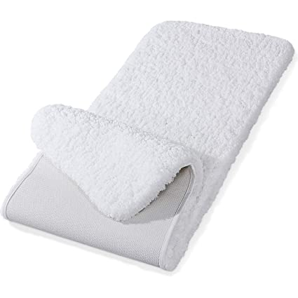 Amazon Com Lifewit 59 X20 Bath Runner Rug Soft Shaggy Bath Mat Non