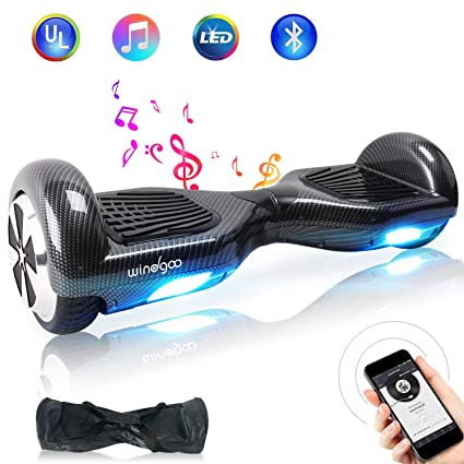 TOEU Hover Board With LED Lights Segway for Kids and Adult Gifts 6.5 inch Self Balancing Electric Scooter with Carrg Bag