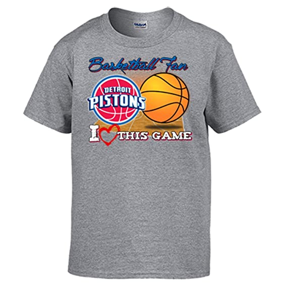 Camiseta NBA Detroit Pistons Baloncesto Basketball fan I Love This Game: Amazon.es: Ropa y accesorios