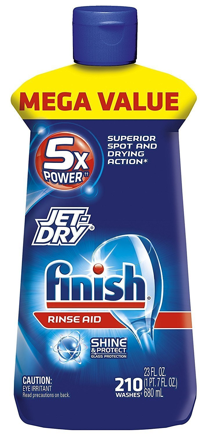Finish Jet-Dry Rinse Aid, Dishwasher Rinse Agent & Drying Agent (2, 23 Ounce)