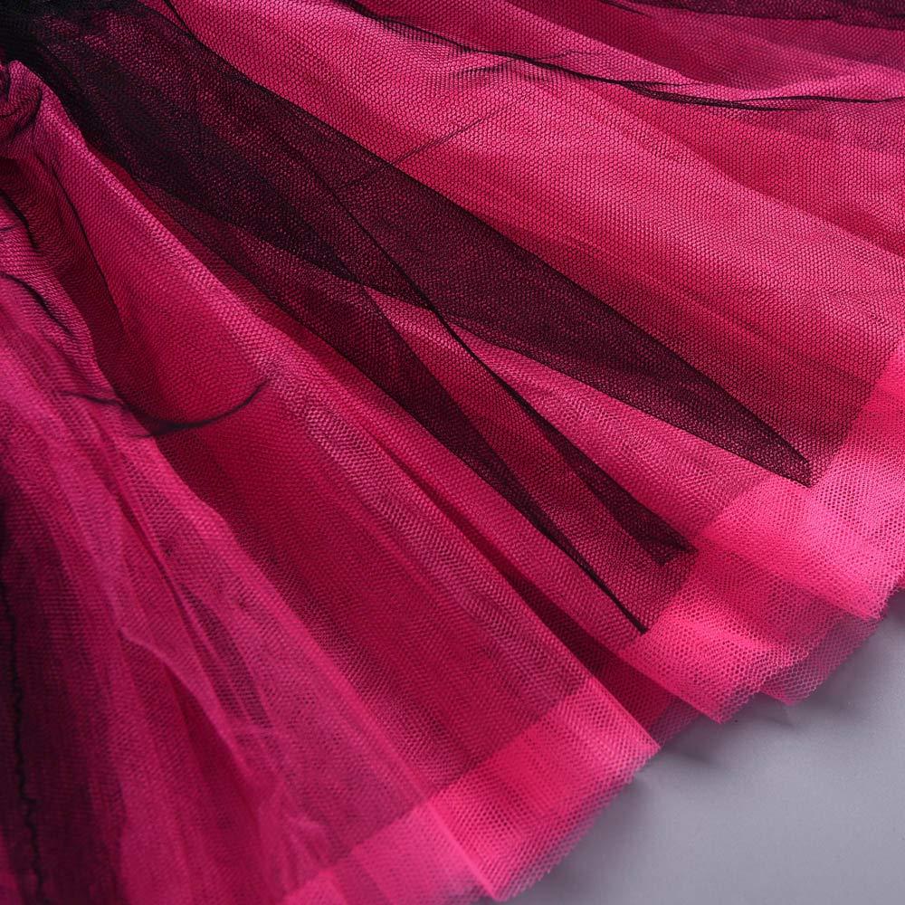 POLP Ni/ño Navidad Cosplay Bebe Verde Vestido Rojo Disfraz navide/ños Ropa Invierno ni/ñas Regalo Faldas de Malla navide/ña Princesa Falda Tutu Diadema Vestidos Fiesta 2pcs 12mes-5a/ños