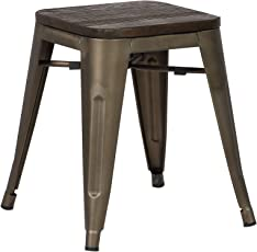 """Poly and Bark Trattoria 18"""" Stool in Elmwood Bronze"""