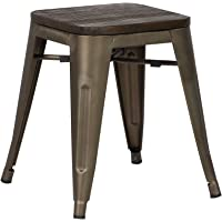 "Poly and Bark Trattoria 18"" Stool in Elmwood Bronze"