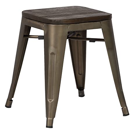 Poly and Bark Trattoria 18 Stool in Elmwood Bronze
