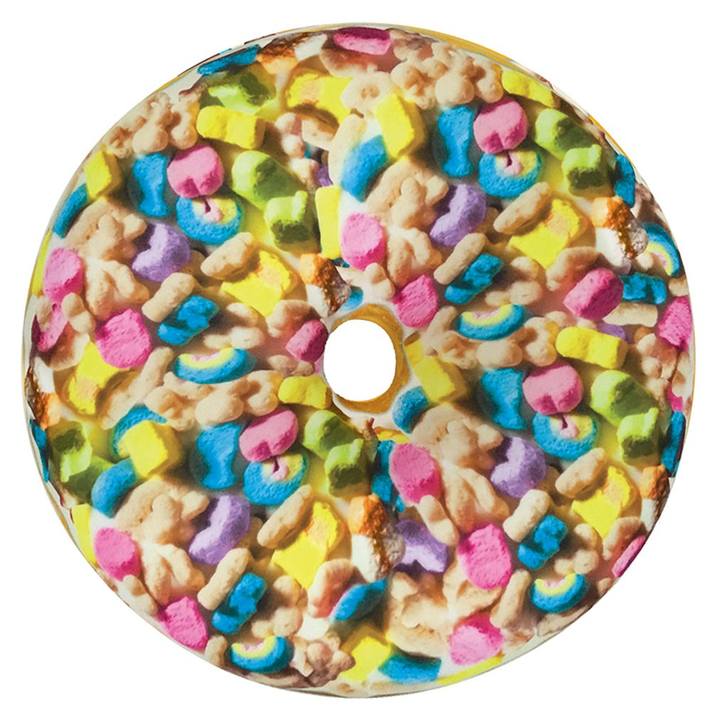 iscream Sugarlicious! Frosting Scented Cereal Donut 16'' Photoreal Microbead Pillow