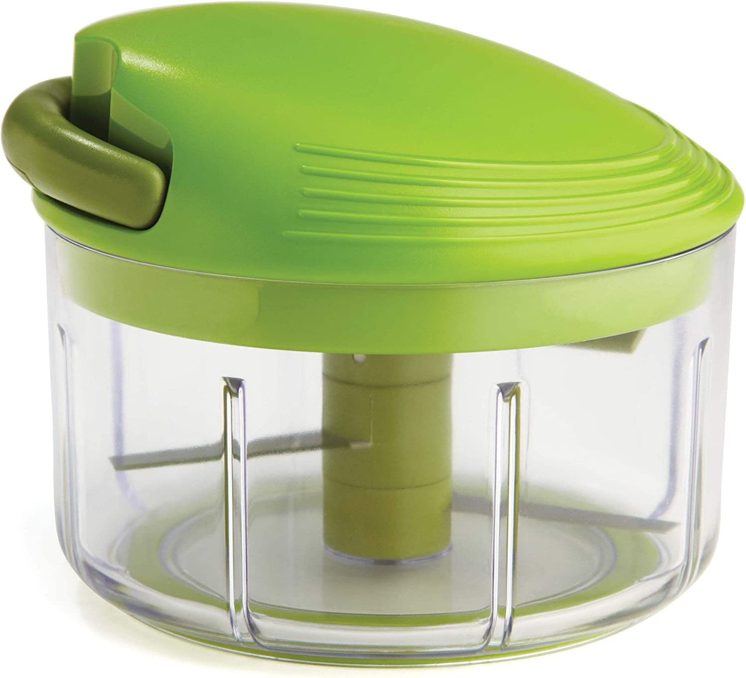 Kuhn Rikon Pull Chop Chopper/Manual Food Processor with Cord Mechanism, Green, 2-Cup: Choppers: Kitchen & Dining