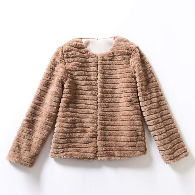 BBestseller Sweatshirts cárdigan Damas de Mujer Chaqueta de Abrigo de Piel sintética cálida Invierno gradiente de Color Parka Prendas de Abrigo Gabardina: ...