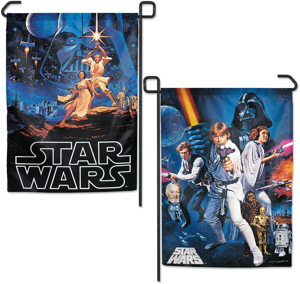 "WinCraft Star Wars Star Wars Star Wars Original Trilogy Multi Character Ep 4 6 12.5"" X 18"" Garden Flags 2 Sided, Multicolor"