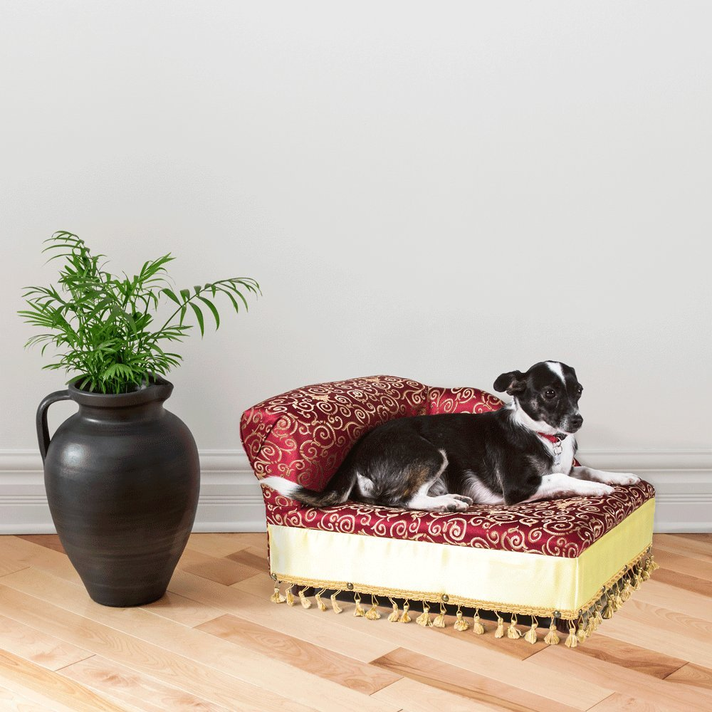 Mini Chaise Elegant Red Pet Bed by Keet (Image #2)