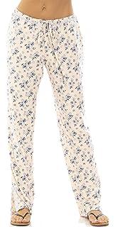 1f5b1aa714 Jessica Simpson Womens Drawstring Pajama Lounge Bottoms with Lace Trim