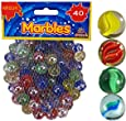 Cat's Eye Marbles, Glass Marbles, Comes in a bag, Protection against damage, Sports Toys & Outdoor By ARSUK (40pcs Colour Marbles)