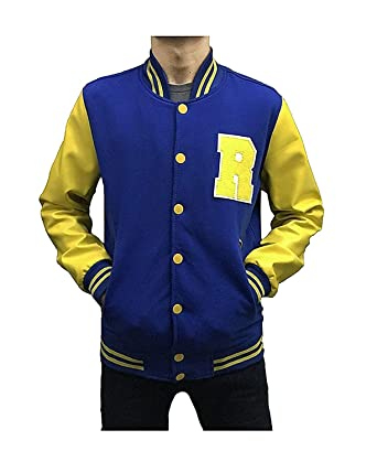 fb1f37cd64 KJ APA Fleece Letterman Jacket with Faux Leather Sleeves at Amazon ...