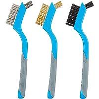 Silverline 617623 - Cepillos de alambre pequeños, 3