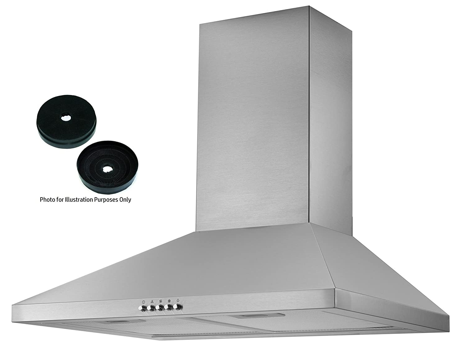 Cookology CMH605SS 60cm Chimney Cooker Hood In Stainless Steel | Kitchen  Extractor Fan | Recirculating Filters Included: Amazon.co.uk: Large  Appliances