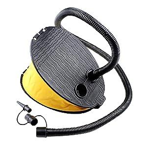 YMIQ Bomba de aire de pie para inflar 3 litros, inflador manual de aire para interior y exterior, inflador de escalones para acampadas, camas de aire, piscina, flotador, barco, natación, anillo, globo