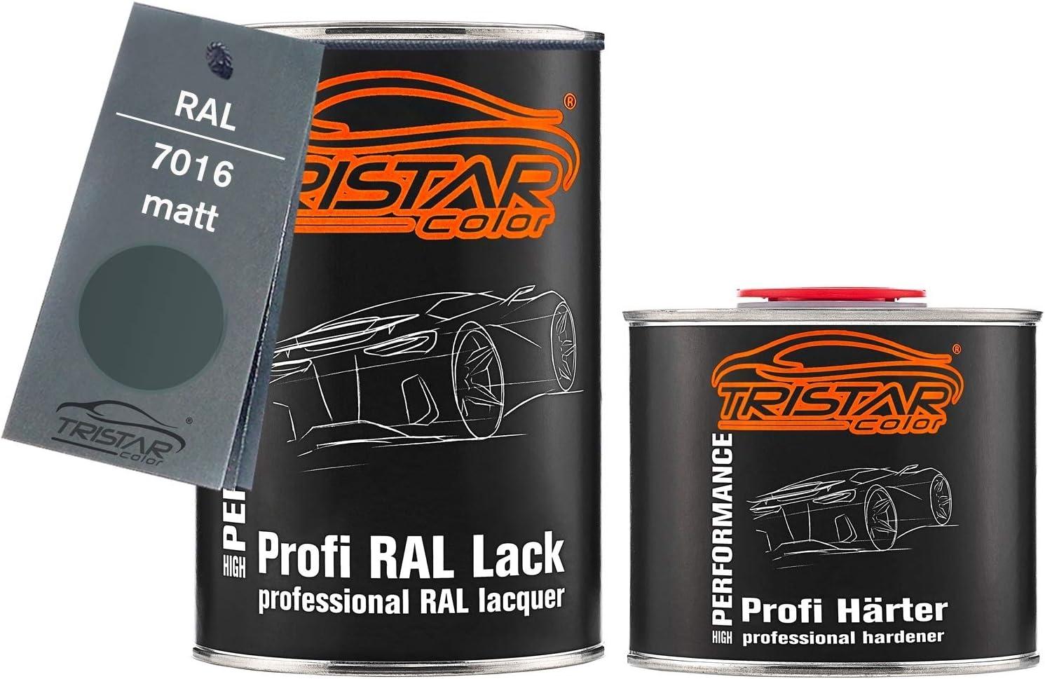 Tristarcolor Ral 7016 Anthrazitgrau Matt 2k Autolack 1 5 Liter 1500 Ml Dose Inkl Härter Auto