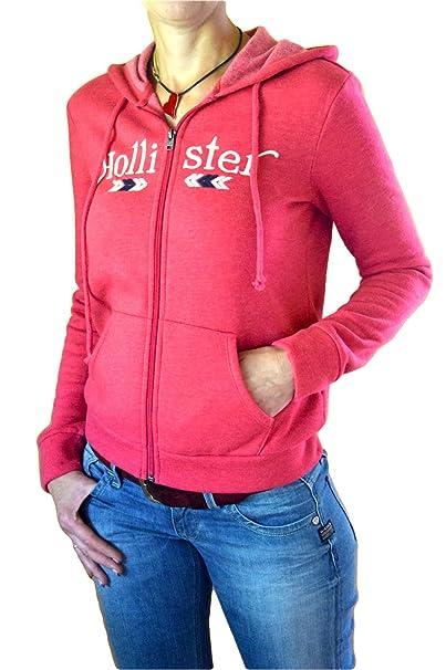 Hollister - Sudadera con capucha - para mujer Rosa Small: Amazon.es: Ropa y accesorios