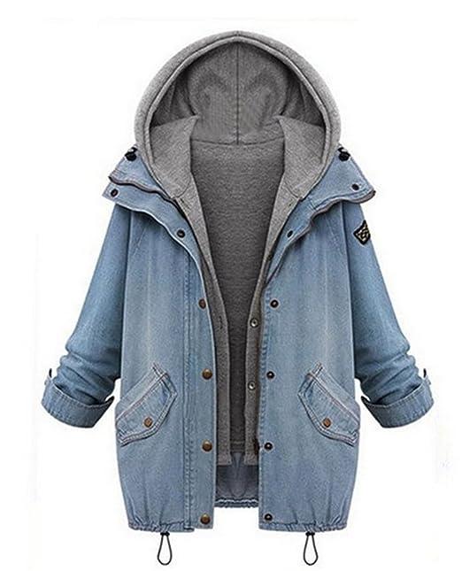 new concept d9b2c 0b6ce Fanessy Winter Herbst Damen Wintermantel Schöne Coat Parka Jacke Deinm Jeans