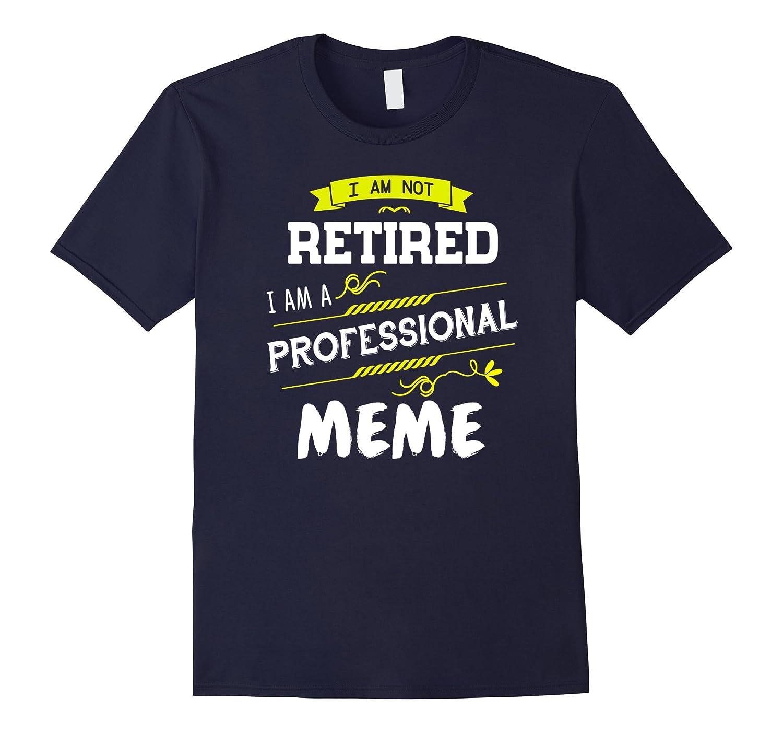 Im not retired Im a professional Meme T Shirt-TD