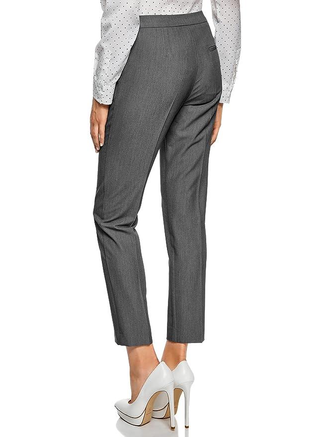 c30cbbbf7071 oodji Collection Mujer Pantalones Clásicos Ajustados
