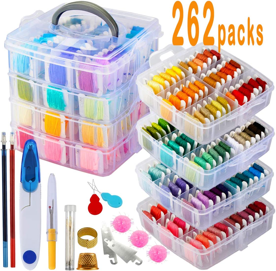 Best utility: 238 Pack Embroidery Thread Floss Set