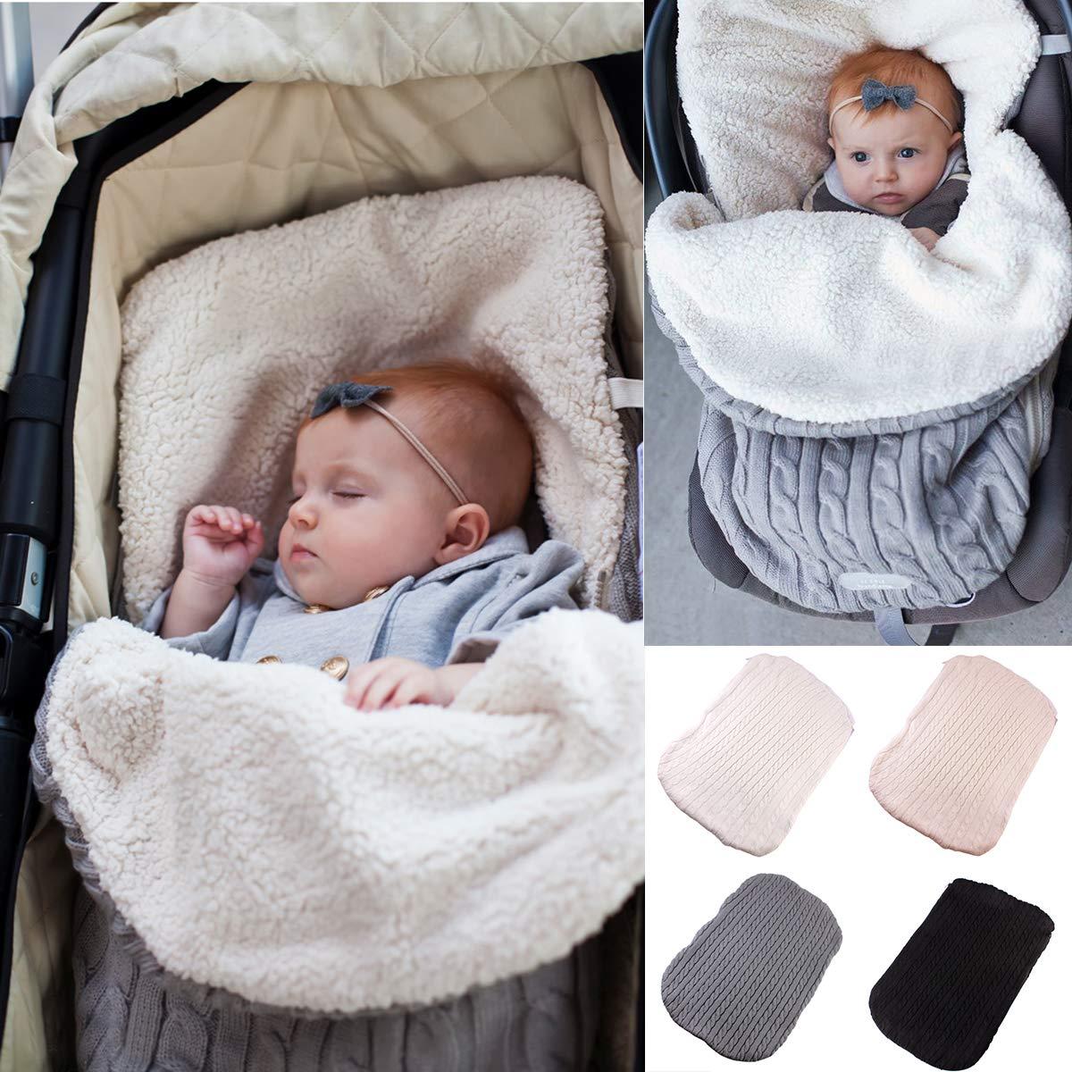 0149a30cd Baby Swaddle Blanket Stroller Wrap Fleece Blanket Sleeping Bag Plus ...