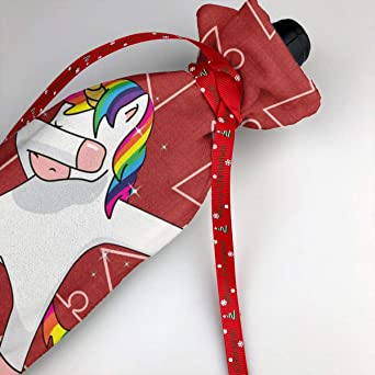 Amazon Com Color Unicorn Dab 3pc Christmas Santa Claus Wine Bottle