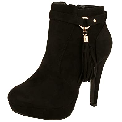 Women's Sexy Solid Round Toe Lace Up Ankle Warp With Buckle High Chunky Heel Platform Boots