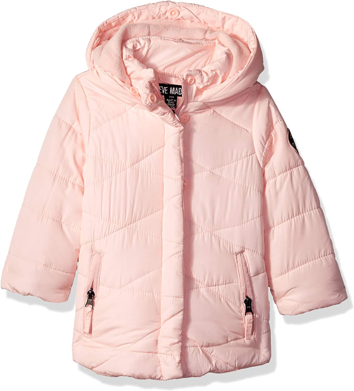 Steve Madden Baby Girls Nylon Star Printed Bubble Jacket