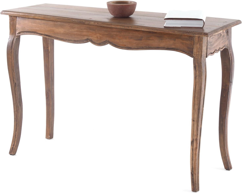 DESIGN DELIGHTS Table Console G54060 114,3 x 39,4 x 72,4 cm Table dappoint Noir nature Bois recycl/é