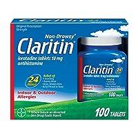 Claritin 24 Hour Allergy Medicine, Non-Drowsy Prescription Strength Allergy Relief...