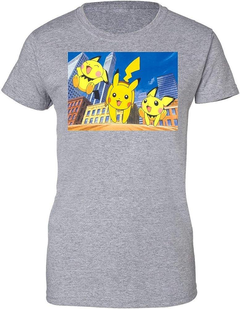 Vintage Pokemon Pokemon Go Pikachu Pichu Camiseta de Mujer Small: Amazon.es: Ropa y accesorios