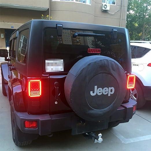 HIDLED® Pair für 15.07 Jeep Wrangler JK LED Rückleuchten Bremse ...
