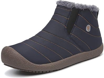 7c6dedb0db42 L-RUN Womens Ankle Booties Women s Winter Outdoor Boots Blue 5.5 ...