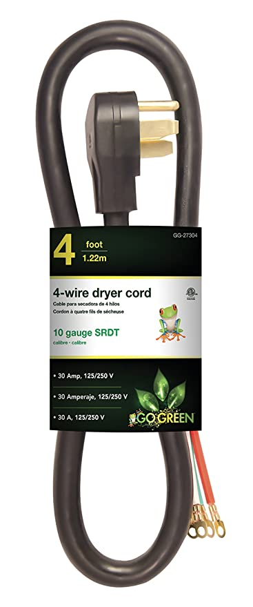 GoGreen Power GG-27304 4 4 Wire Dryer Cord, ...