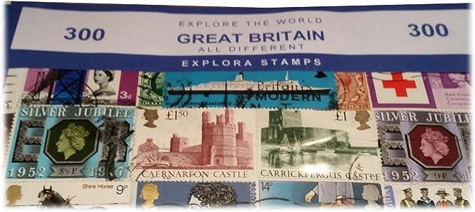 Explora Londres Inglaterra Reino Unido Juego de 300 Sellos - Coleccionables / Todos Diferentes / Recuerdo Británico