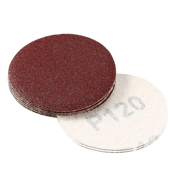 Discos de lija de 6 agujeros 40//60//80//120//180//240//400//600//800//1000, 100 unidades Sourcingmap