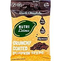 Nutrilicious Semillas de Calabaza de Chocolate Negro - Keto, Ricas en Proteínas Bajos en Carbohidratos, Menos Azúcar…