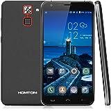 "HOMTOM HT30 3G Smartphone - Android 6.0 (Screen 5.5 "", Marshmallow MT6580, Quad Core 1.3GHz, 1GB RAM 8GB ROM, Smart Gestures, huella dactilar, Dual SIM, Gps, OTG, Wifi)-Negro"