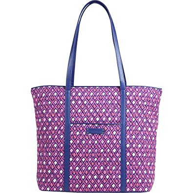 Gorgeous Vera Bradley Trapeze Tote Bag in Katalina Pink Diamonds Vera Bradley euYdH8Q6U