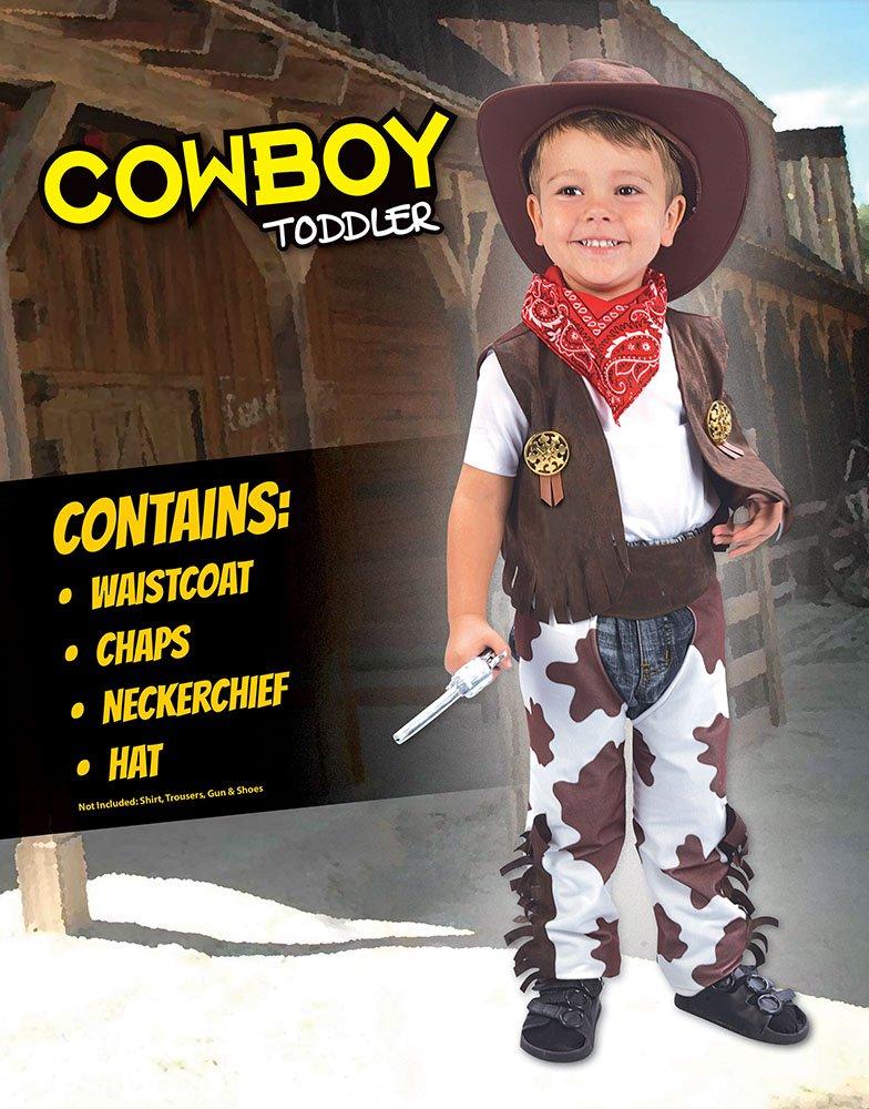 Theme Fancy Dress Disfraz infantil de Vaquero. 3 años  Amazon.es  Juguetes  y juegos d14d1acd590