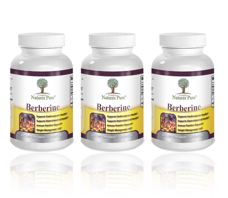 Premium Berberine HCl 500mg - 360 Capsules - Cardiovascular gastrointestinal Immune Weight Loss Support- Chromium Cinnamon