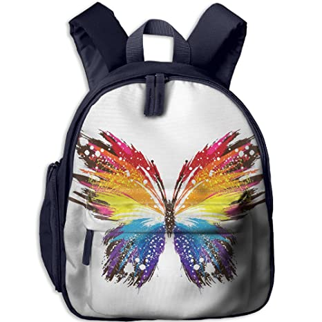 343e3f3d68 Beautiful Watercolor Butterfly Cool Pattern Printing Shoulders Kid  Bag For  Boy School Kindergarten Backpacks 12.5 quot