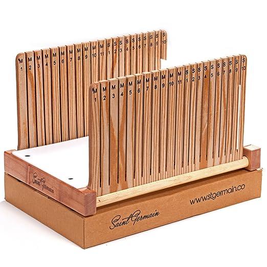 Cortador de pan de madera, elegante y plegable con 2 ranuras ...