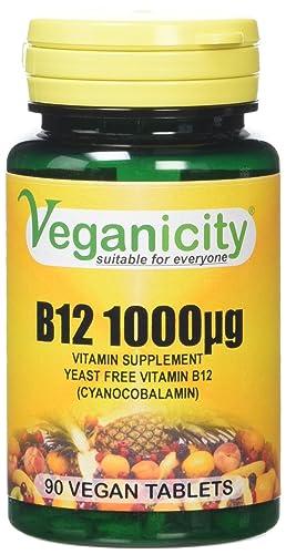 Veganicity B12 1000µg Heart Health Supplement - 90 Tablets