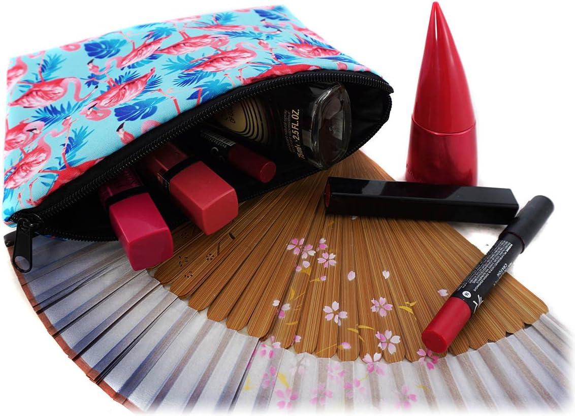 009 Trousse Scolaire Sac a Crayon Trousse de Toilette Trousse en Cuir Plumier Organisateur Trousse a Maquillage Chat de Couleur